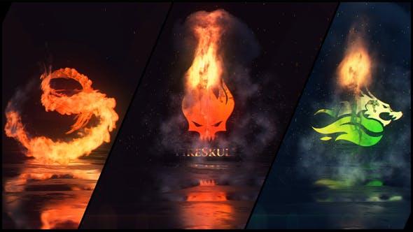 Videohive Fire Explosion Logo 33838092