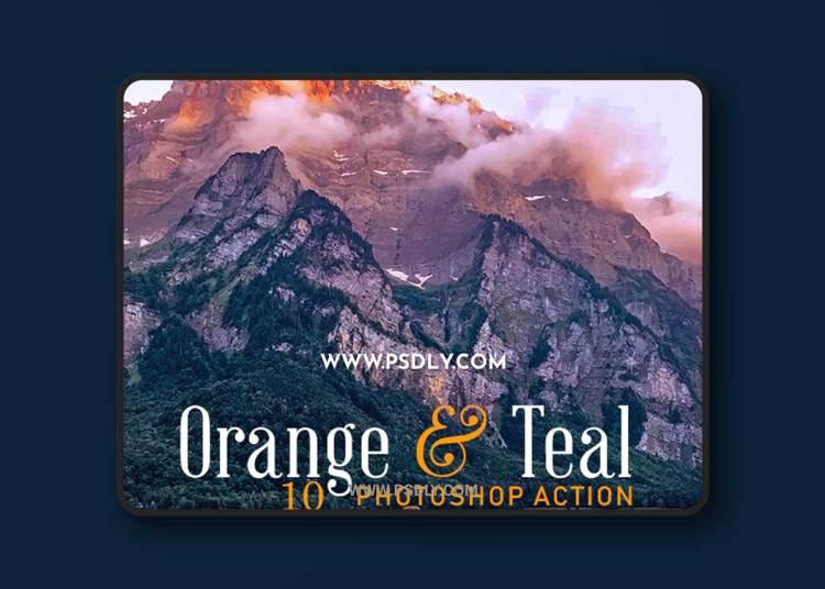 GraphicRiver - 10 Orange & Teal Photoshop Action 23151674