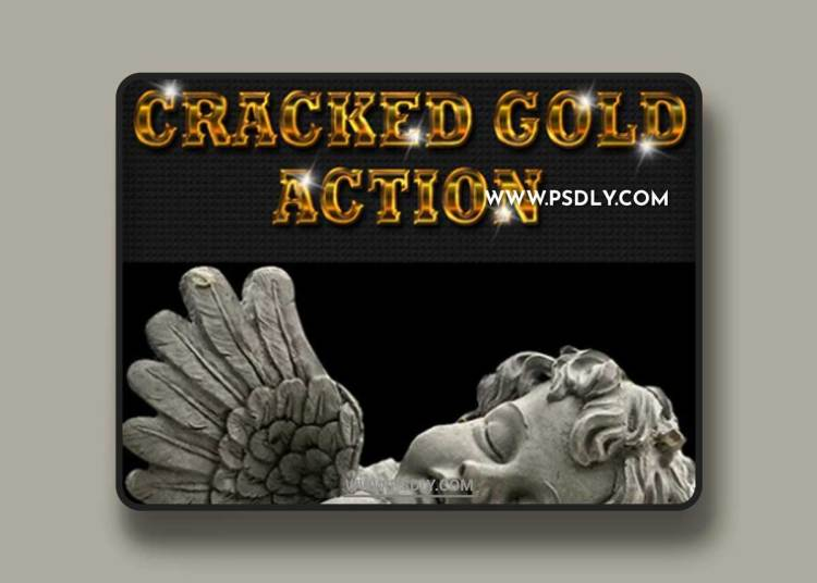 GraphicRiver - Amazing Cracked Gold Effect Photoshop Action 21073892