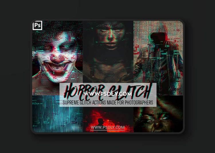 GraphicRiver - Horror Glitch Photoshop Action 23156098