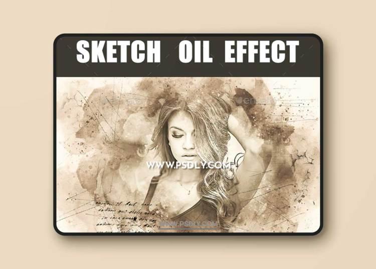 GraphicRiver - Sketch Oil Effect 23120718