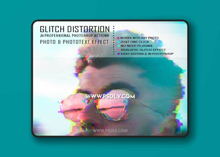 GraphicRiver - VHS Glitch Photo Text Effect - 24 PS Actions 23087929