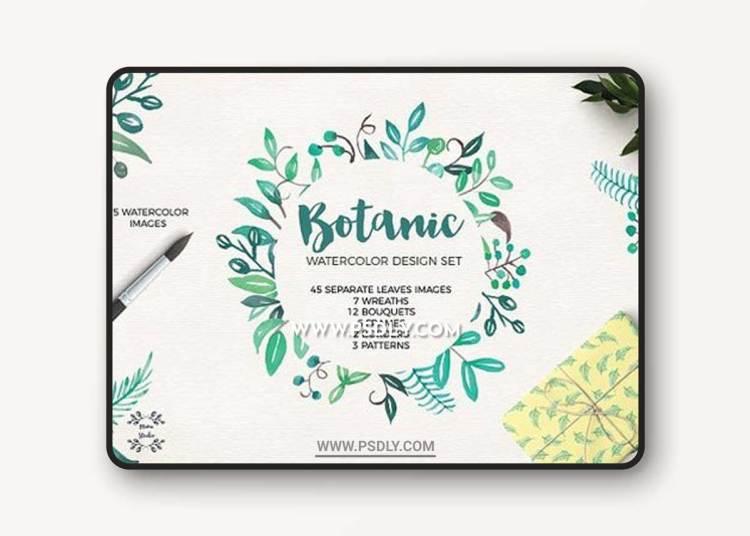 Greenery Botanic Watercolor Kit