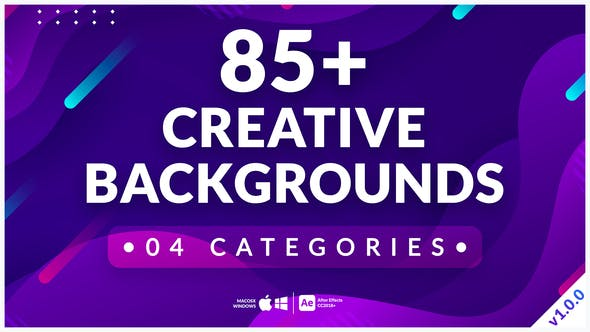 Videohive 85+ Creative Backgrounds 33697228
