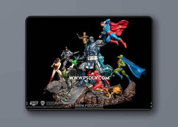 Justice League vs Darkseid Diorama – 3D Print Model