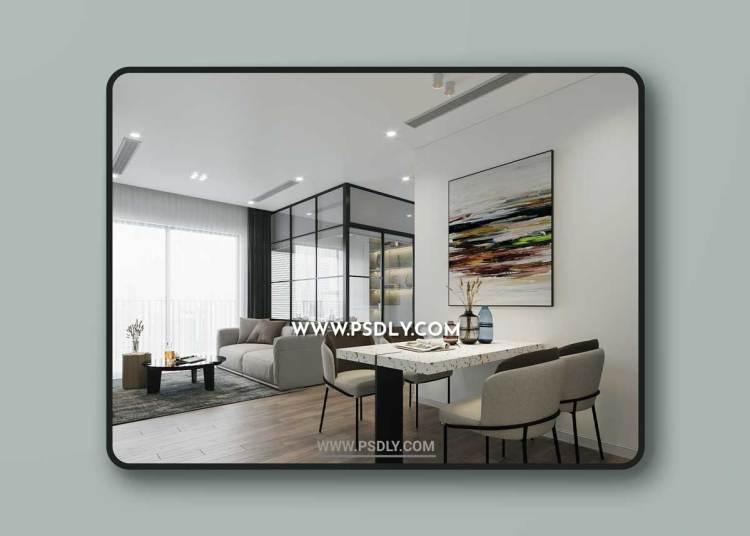 Kitchen – Livingroom 311 3D Model