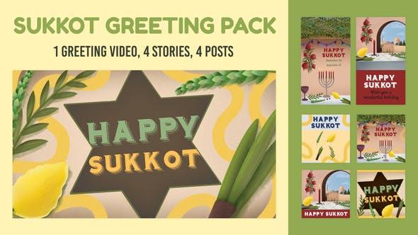 Videohive Sukkot Greeting Pack 33697232