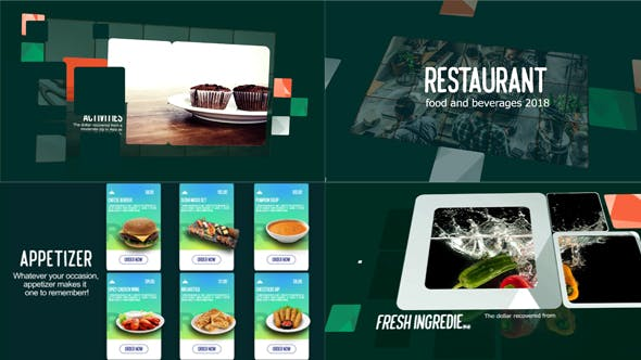 Videohive Restaurant Food & Beverages Menu Display 21465711