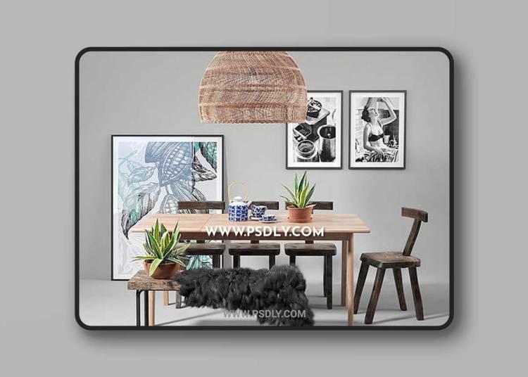Scandinavian set 003 3D Model