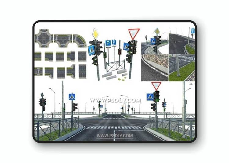 Sections of Road 3D Models