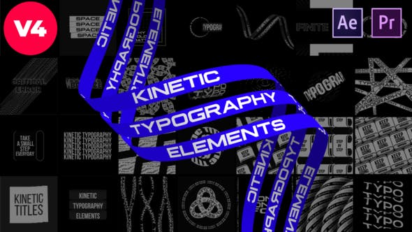 Videohive Kinetic Typography Elements 27299906