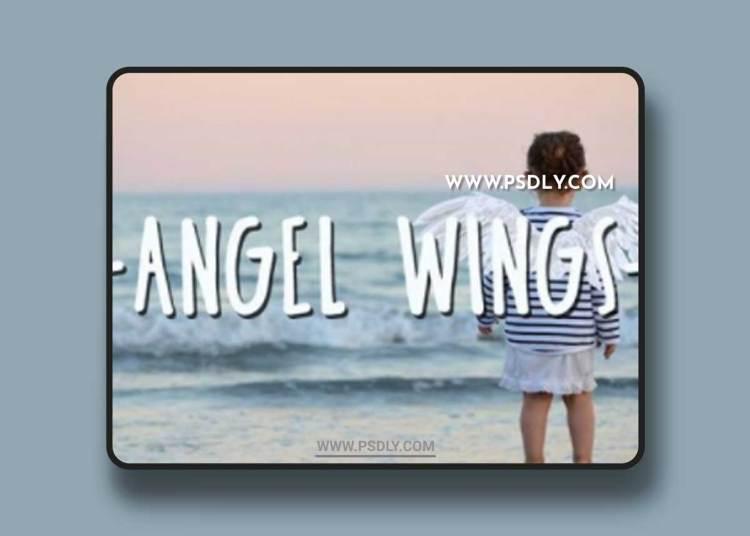 White Wings Photo Overlays