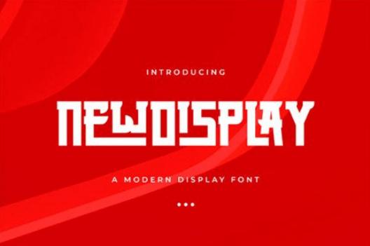 New Display Font