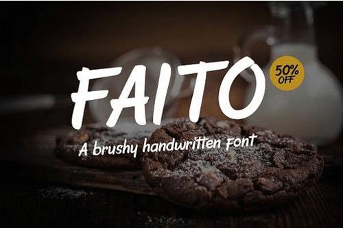 Faito Font - Intro Sale