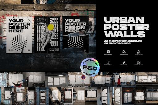 CreativeMarket - Urban Poster Wall Mockups 5013944