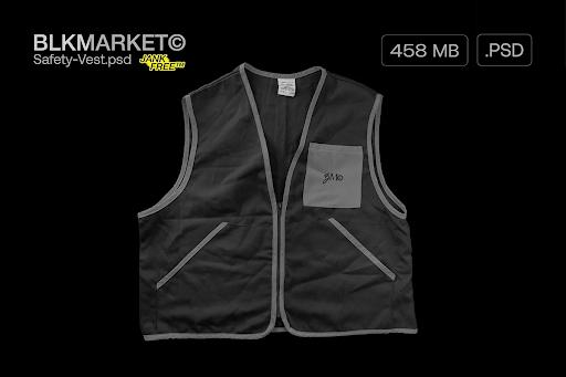 CreativeMarket - Safety-vest.psd - Streetwear Mockup 5755619