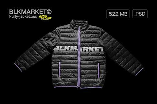 CreativeMarket - Puffy-Jacket.psd - Streetware Mockup 5755618