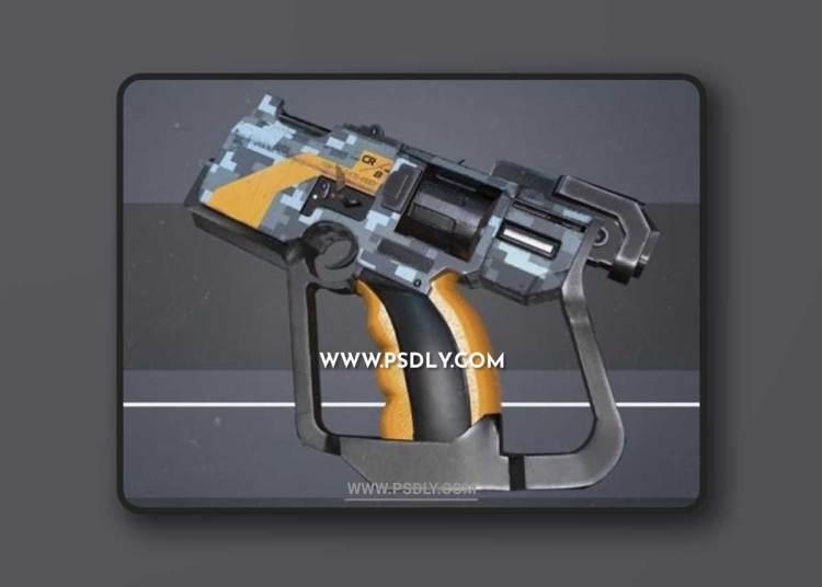 SciFi – Hand Gun 3D Model