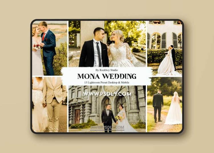 15 Mona Wedding Lightroom Presets