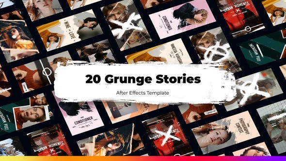 Videohive 20 Urban Grunge Instagram Stories 34145889