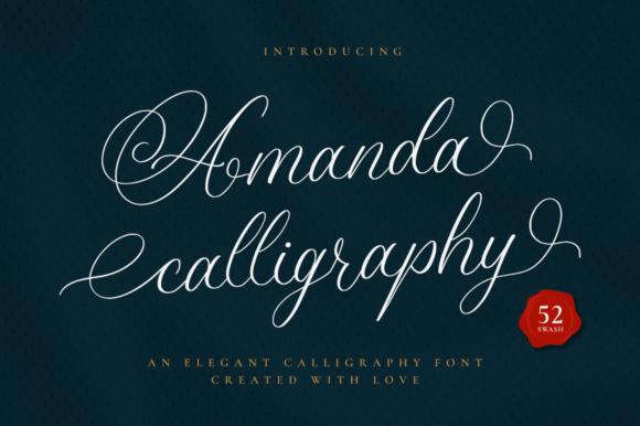 Amanda Calligraphy Font