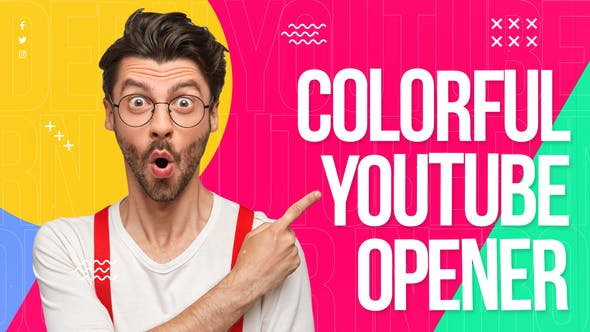 Videohive Colorful Youtube Opener 34151328