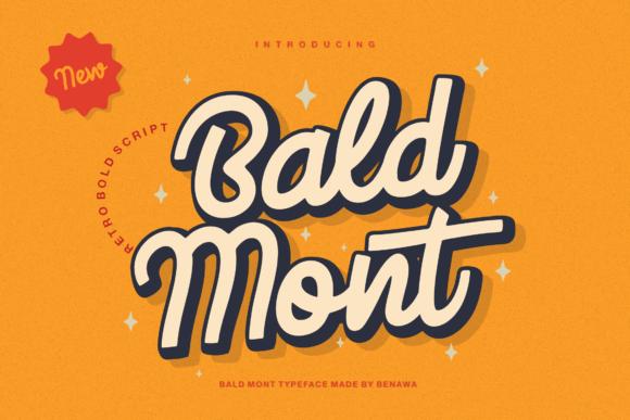 Bald Mont - Retro Font