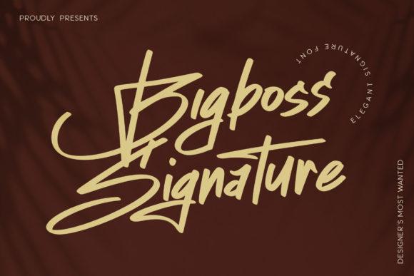 Bigboss Signature Font