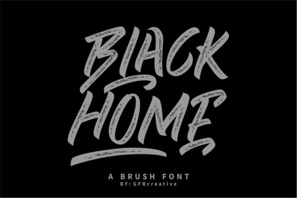 Black Home Font