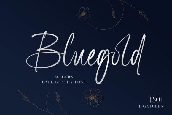 Bluegold Font