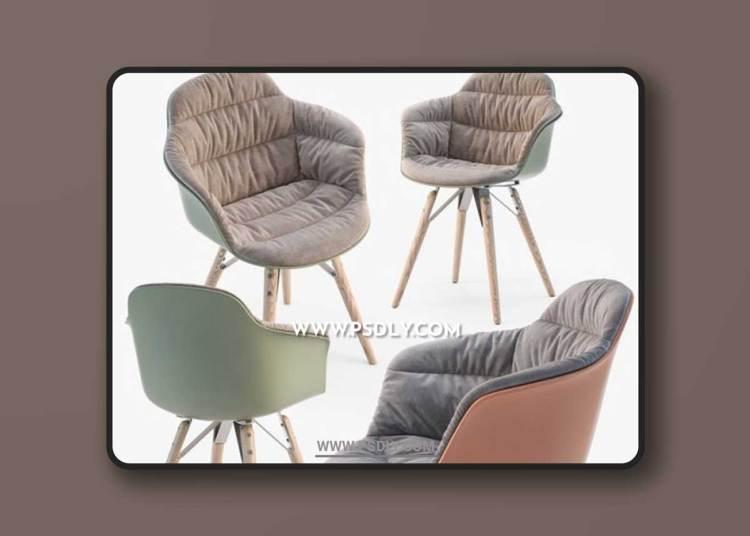 Bontempi Mood covered armchair 3D Models