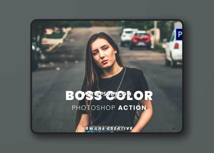 Boss Color Photoshop Action