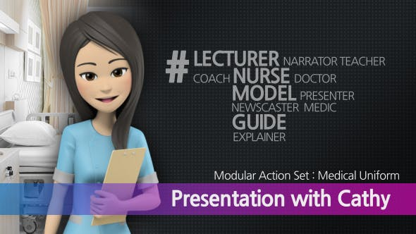Videohive Presentation With Cathy: Medical Uniform 16538313