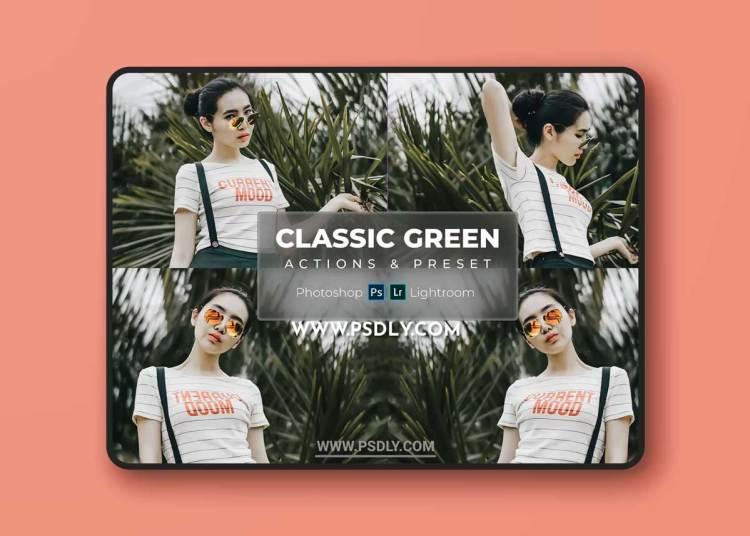 Classic Green - Actions & Lightroom Preset