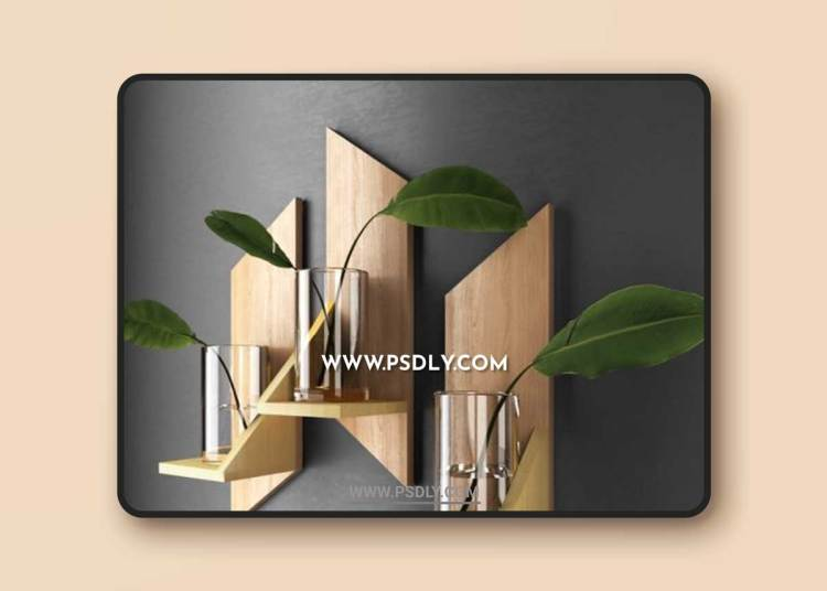 Decorative shelves with sheets 3D Models