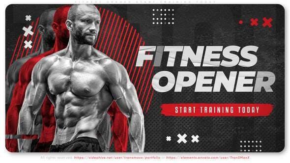 Videohive Fitness Opener. Start Training Today 34126164