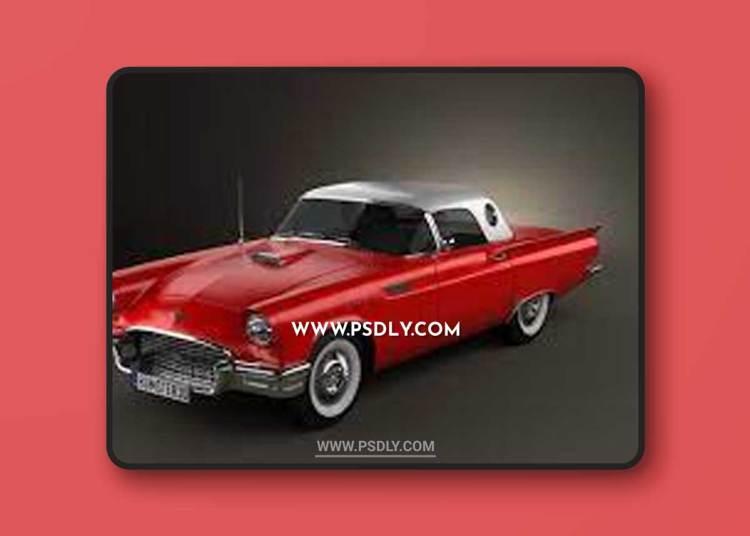 Ford Thunderbird 1956 3D Model o93678