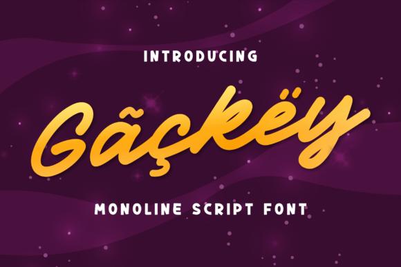 Gackey Font