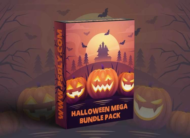 Halloween After Effect Video Template Bundle Pack 2021