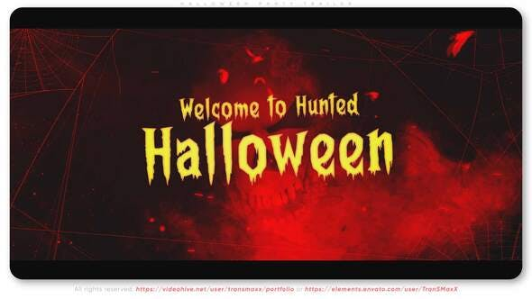 Videohive Halloween Party Trailer 34104702