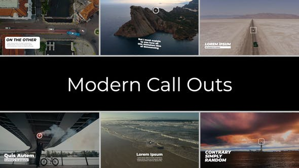 Videohive Modern Call Outs | After Effects 34107181