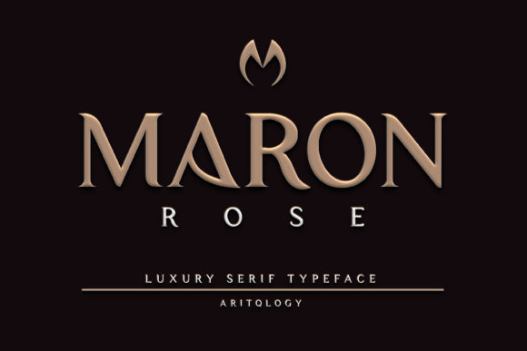 Maron Rose Font