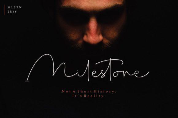 Milestone Signature Font