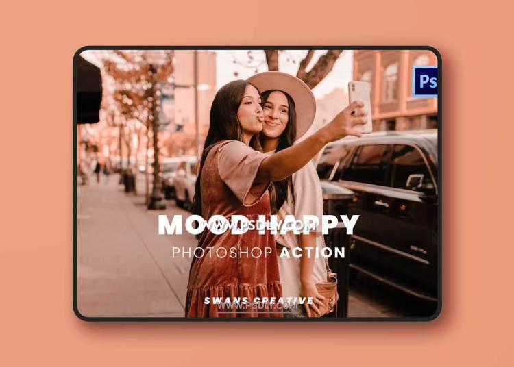 Mood Happy Photoshop Action