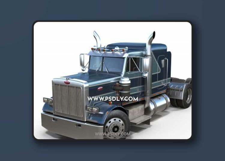 Peterbilt 359 semitruck 3D Models