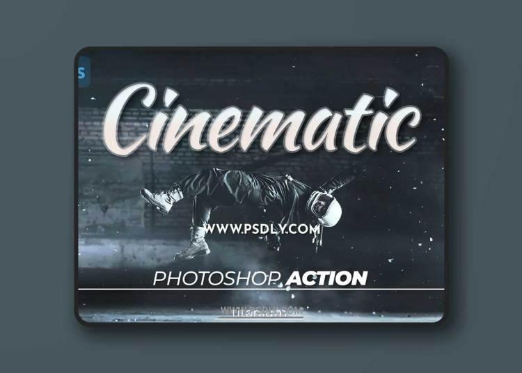 Titanium Cinematic Coloring Photoshop Action