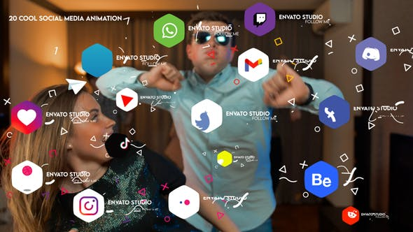 Videohive Cool Social Media Animation 34161241