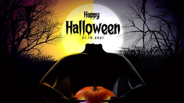 Videohive - Pumpkin Head Halloween Intro - 34061963