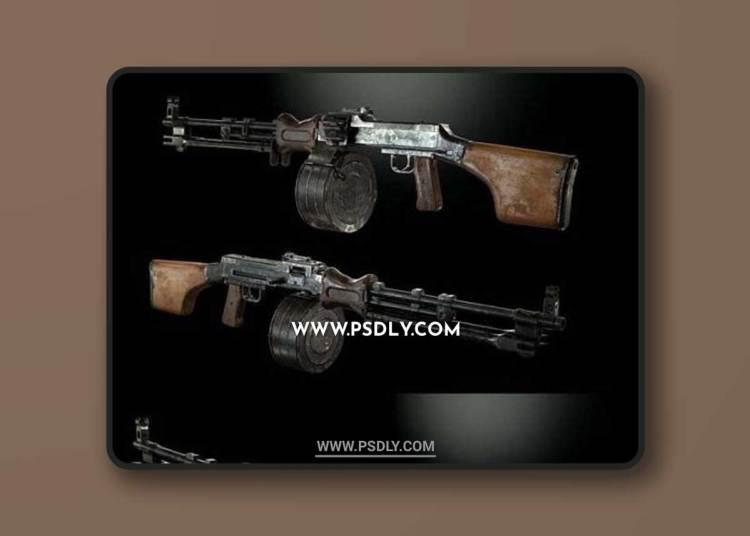 RPD Hand Machinegun 3D Models