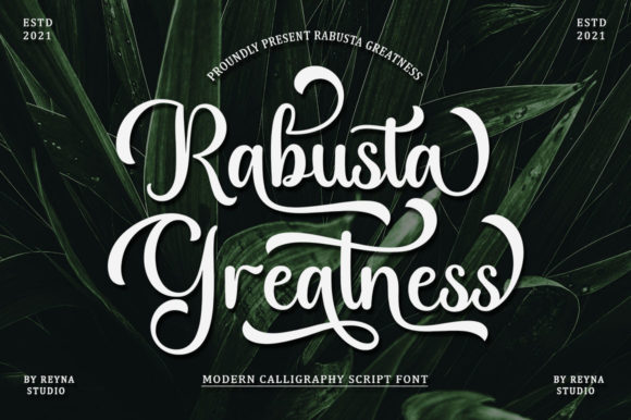 Rabusta Greatness Font